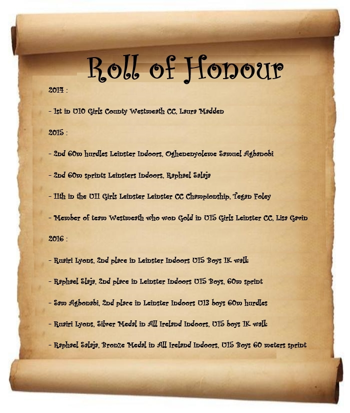 roll of honor 2